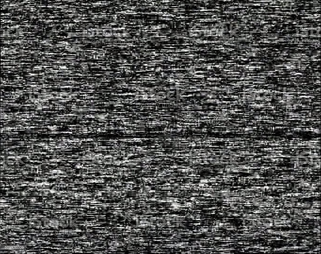Noise on a black screen background stock photo