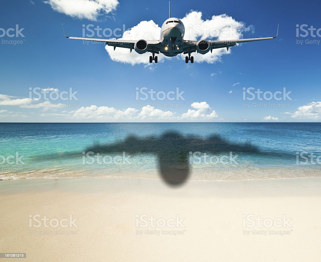 Noisiest beach stock photo