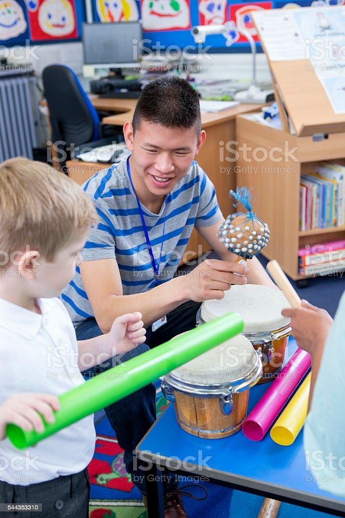 Noisy Nursery Lesson stock photo