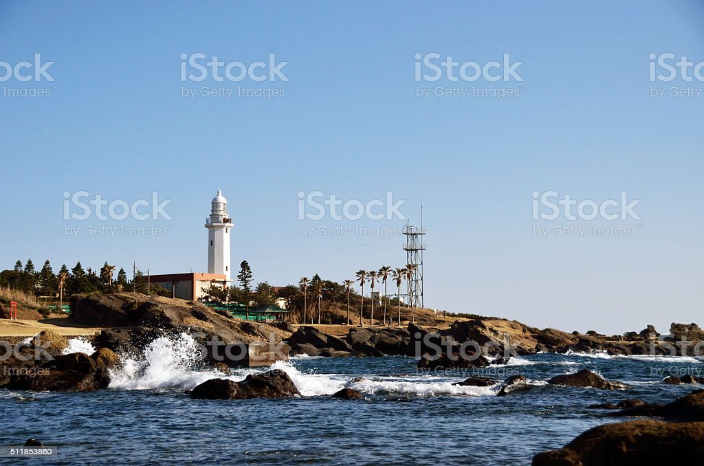 Nojimazaki lighthouse stock photo