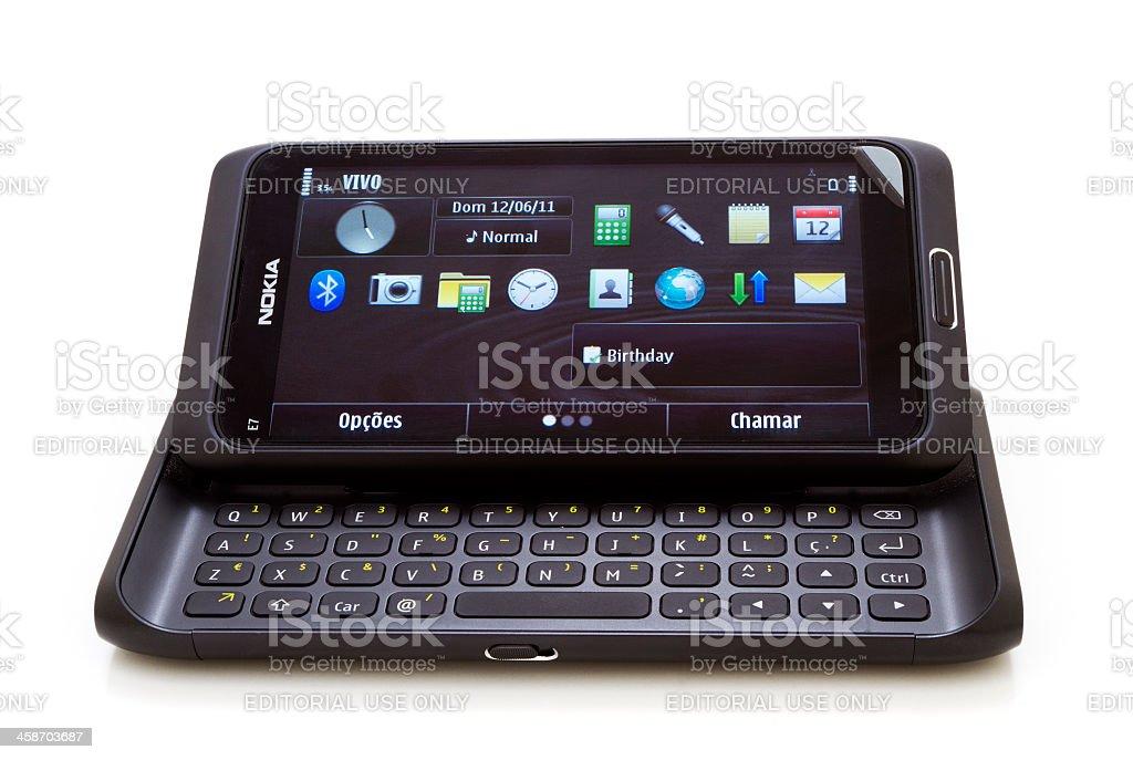 Nokia E7 stock photo