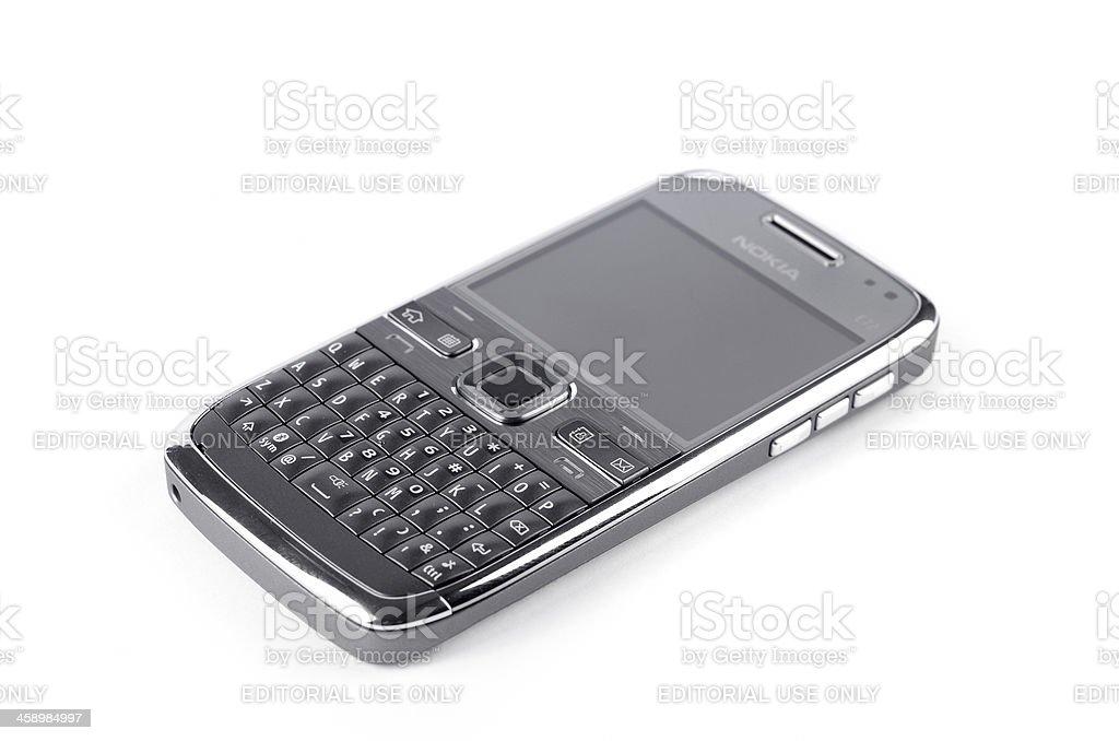 Nokia E72 isolated on white stock photo