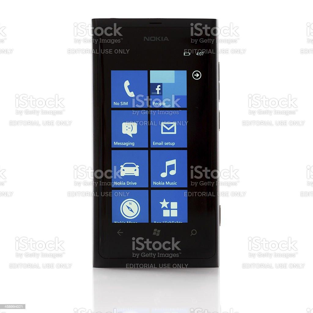 Nokia Lumia 800 isolated on white stock photo