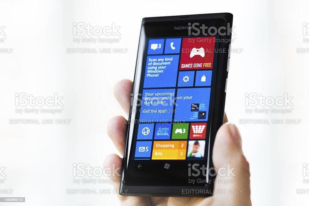 Nokia Lumia 800 with Windows Phone 8 stock photo