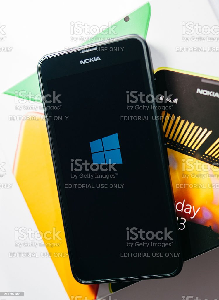 Nokia Lumia Microsoft Widowsphone stock photo