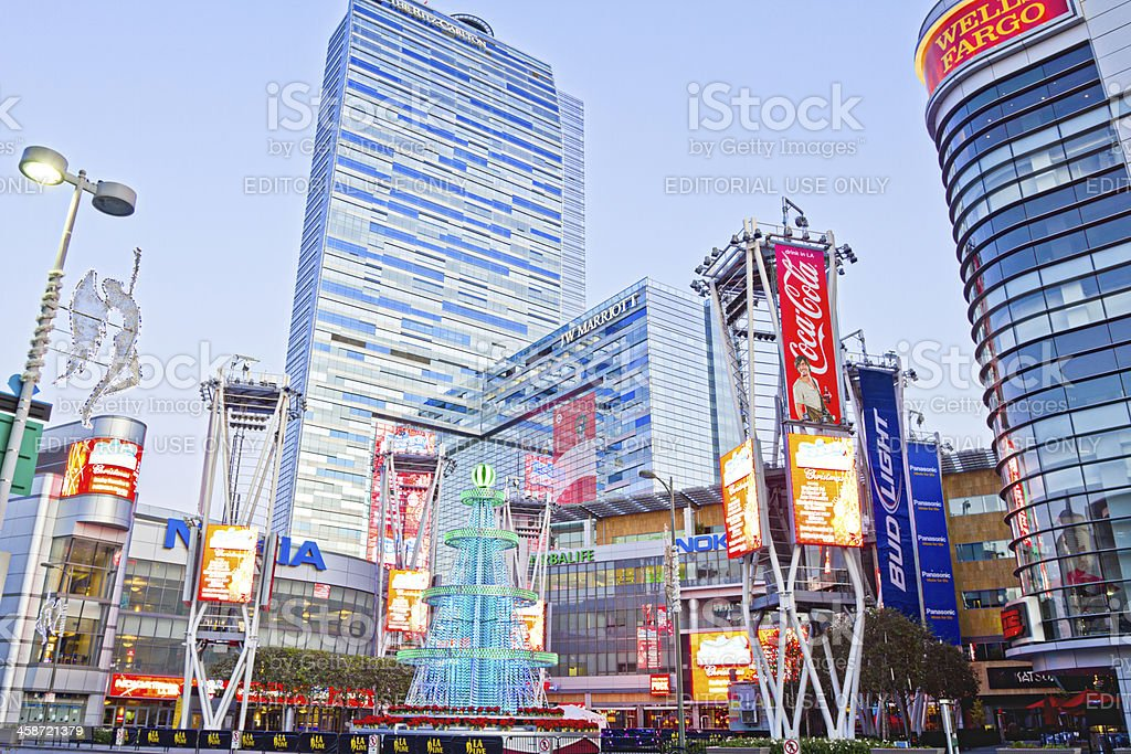 Nokia Plaza At LA Live In Los Angeles stock photo