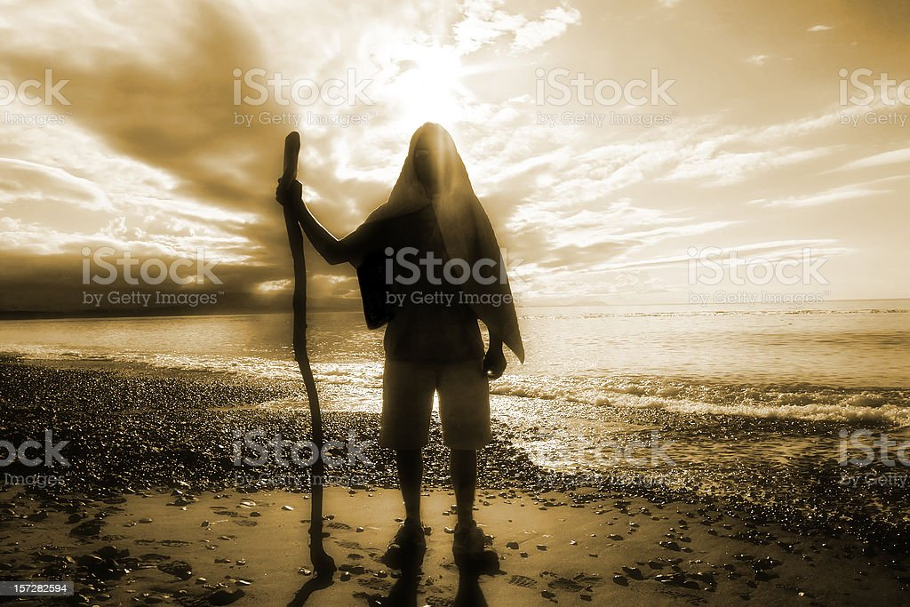 Nomad on The Beach stock photo
