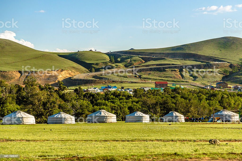 Nomad Village stock photo