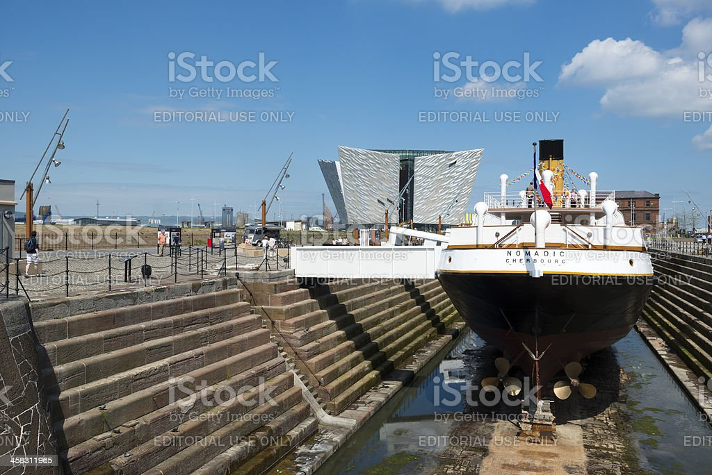 SS Nomadic and Titanic Museum in Belfast stock photo