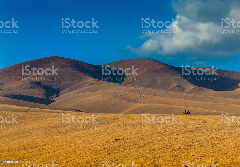 Nomadic journey, Kazakhstan, Central Asia stock photo