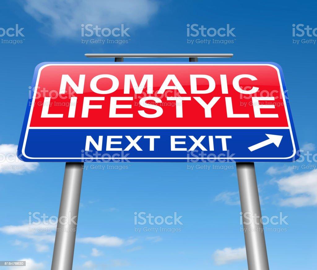 Nomadic lifestyle concept. stock photo