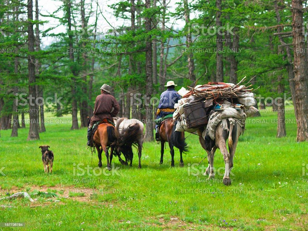 Nomads stock photo