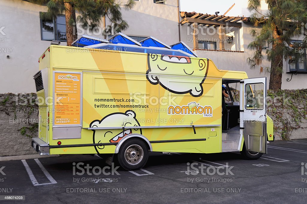 nom-nom truck spotted in Pasadena, California royalty-free stock photo