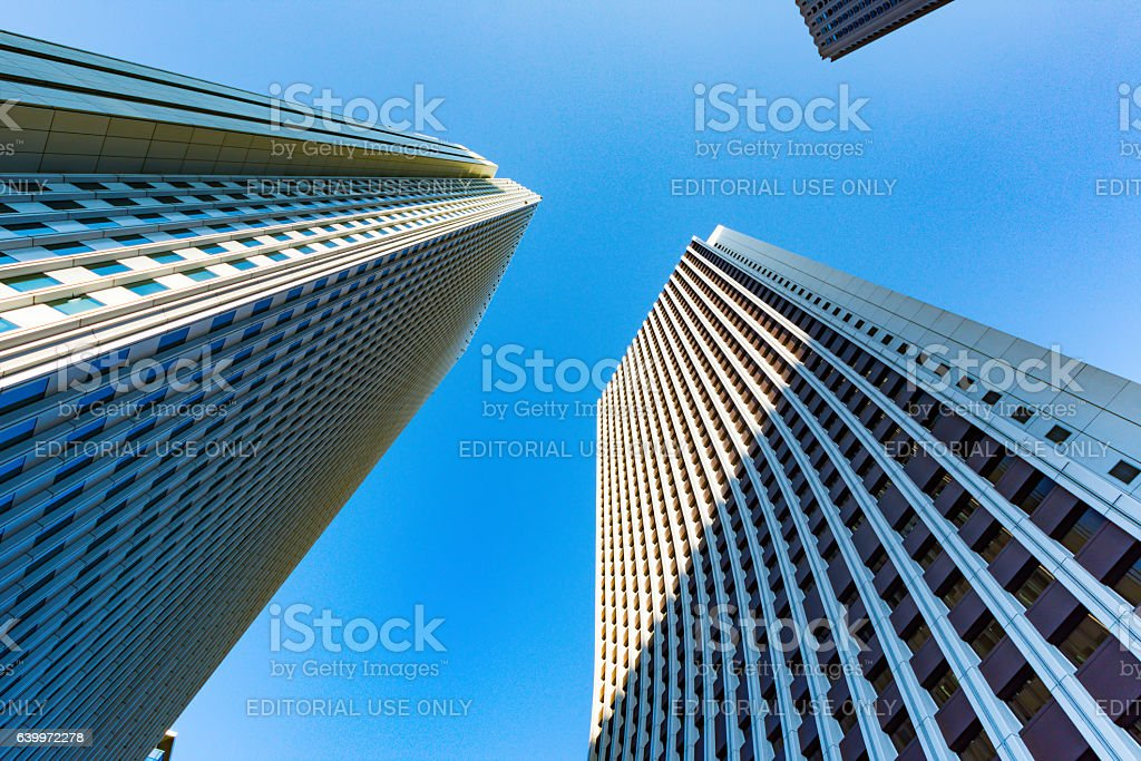 Nomura Building and Sompo Japan Building stock photo