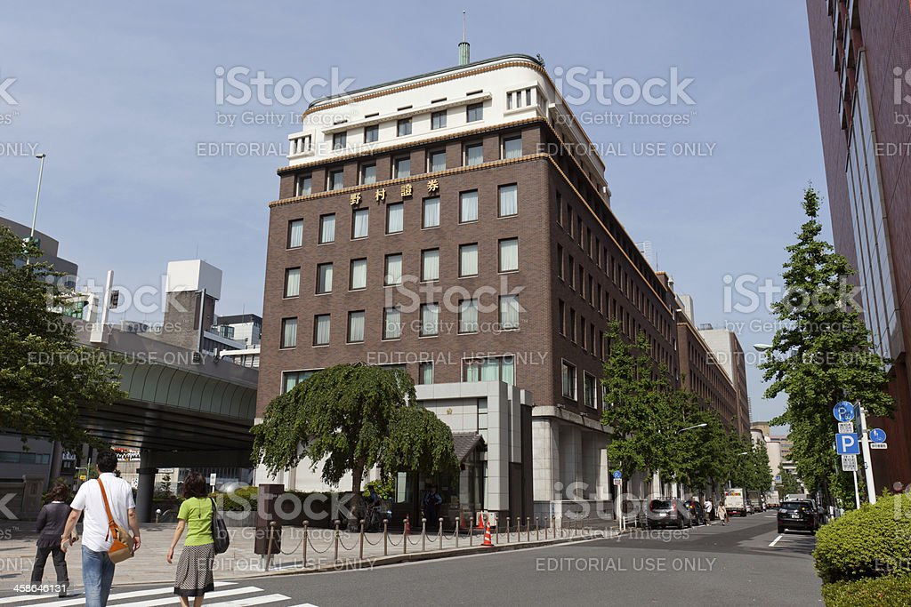 Nomura Securities in Japan stock photo
