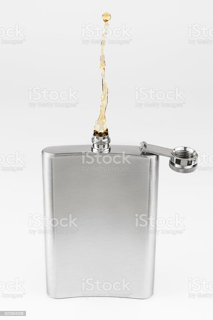 Non gravity liquor flask stock photo