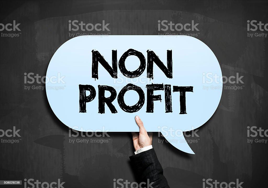Non profit / Blackboard concept (Click for more) stock photo