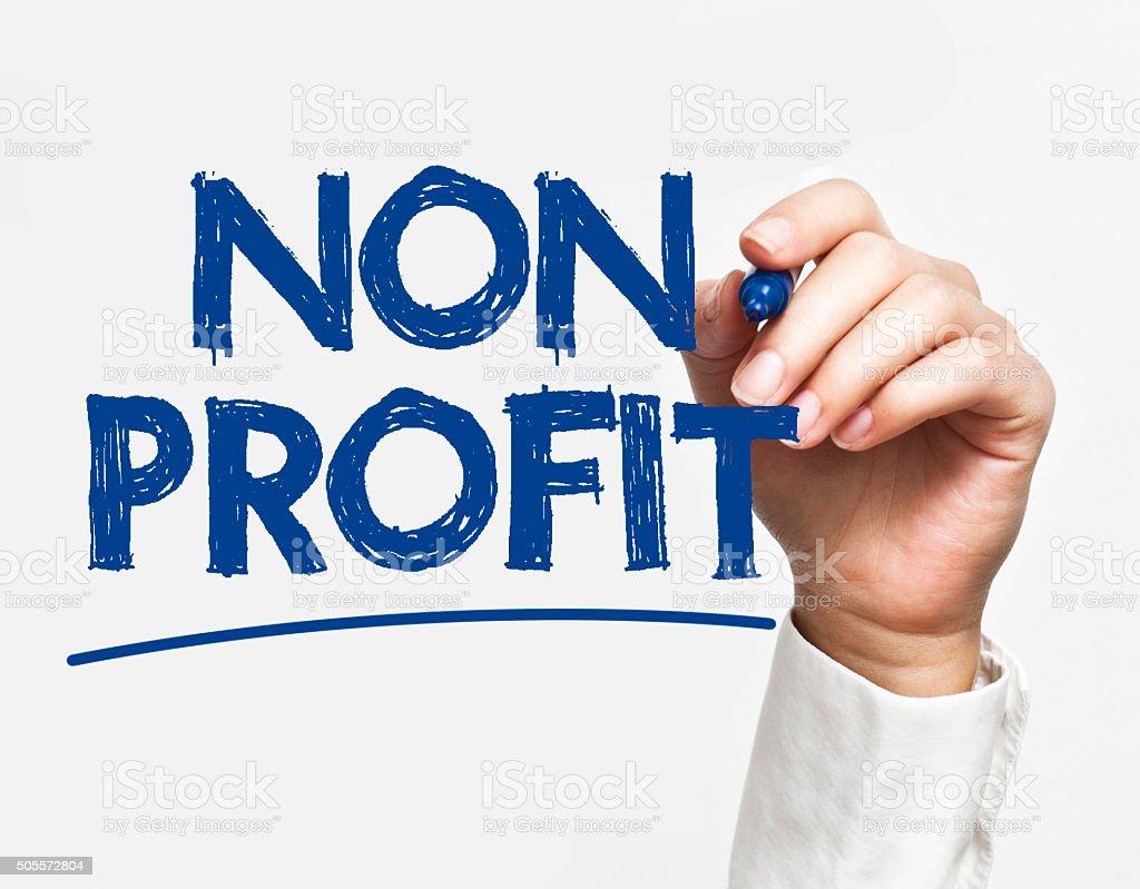 Non profit / Felt tip pen concept (Click for more) stock photo