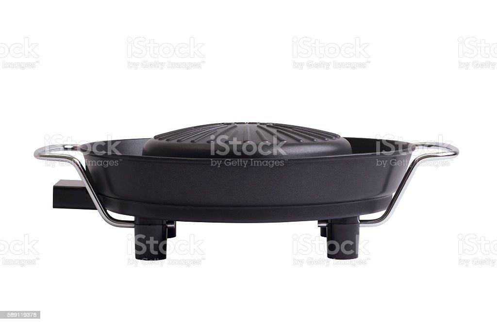 non stick electric grill stove stock photo