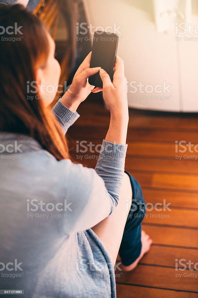 non stop texting stock photo