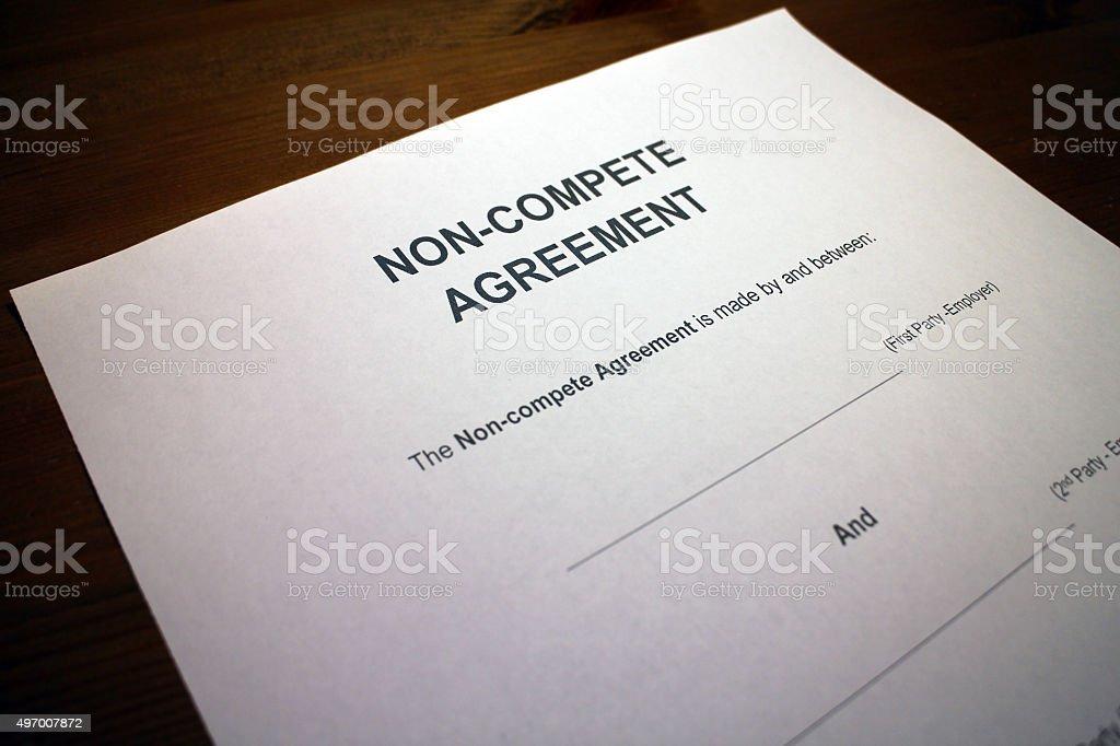 Non-compete Agreement stock photo