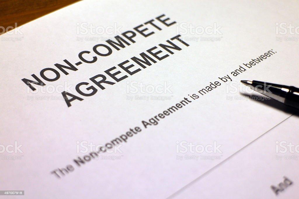 Non-compete Contract stock photo