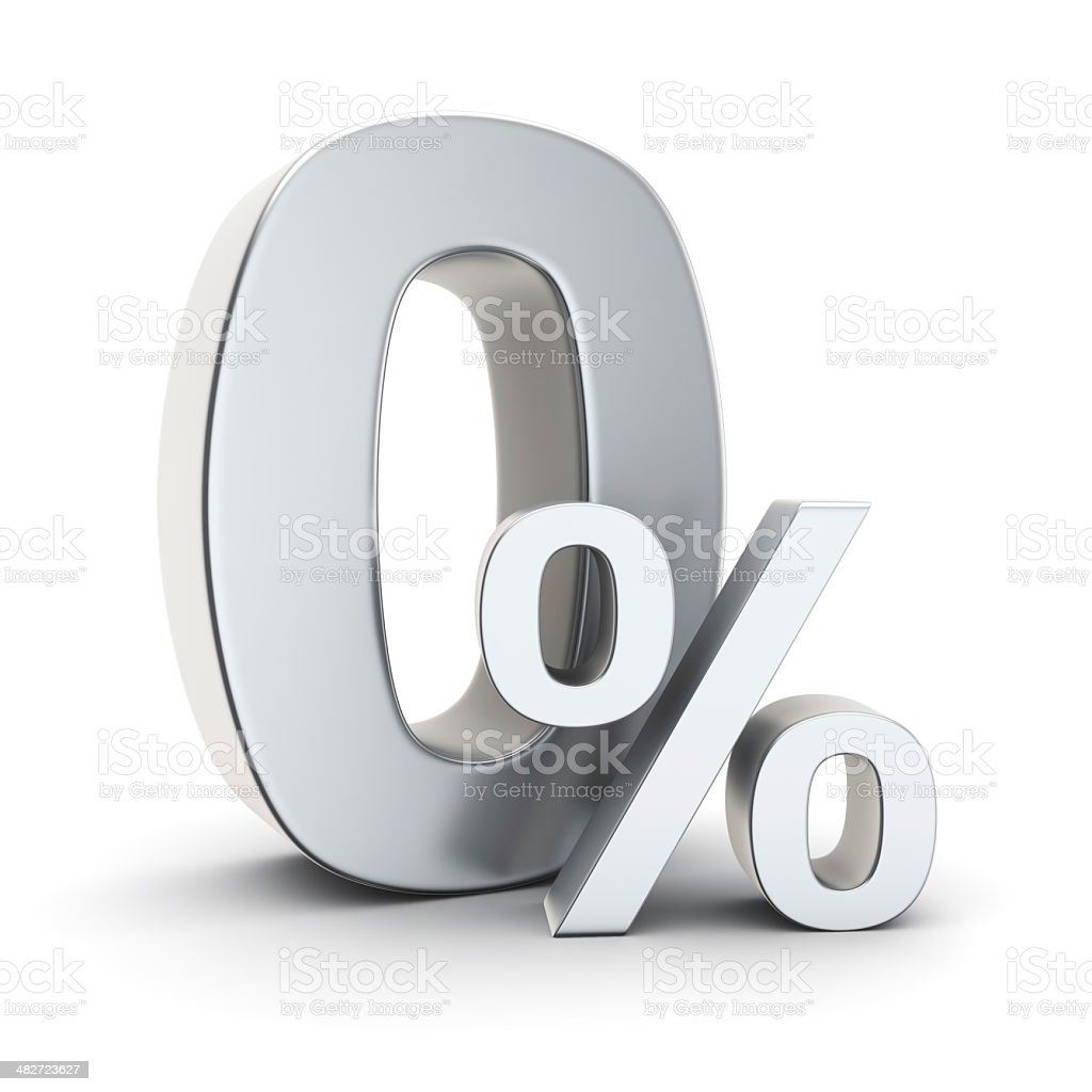 Non-interest-bearing symbol stock photo