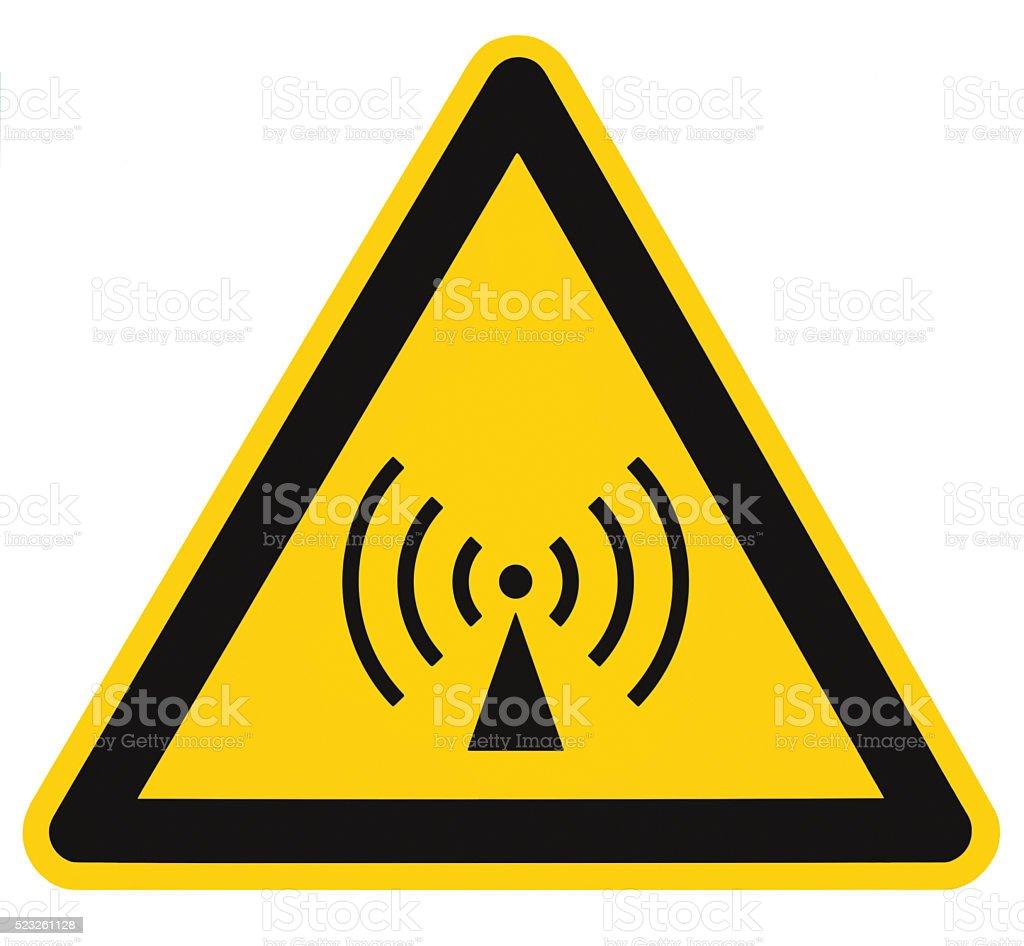 Non-ionizing radiation hazard safety, danger warning sign sticker label stock photo