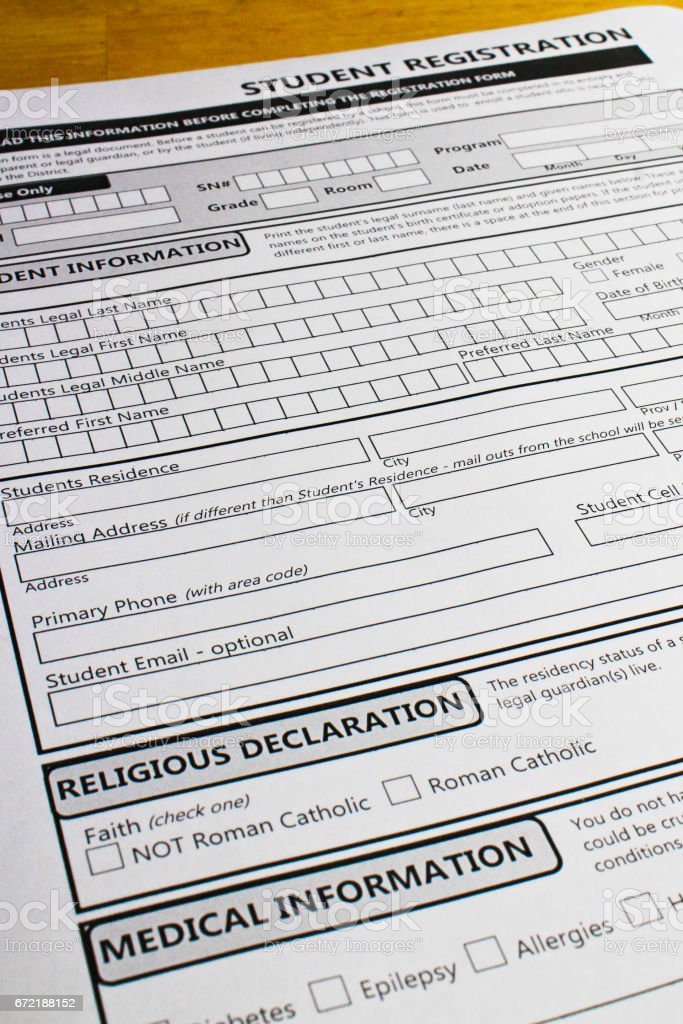 Non-Minority faith students may not be enrolled in certain schools stock photo