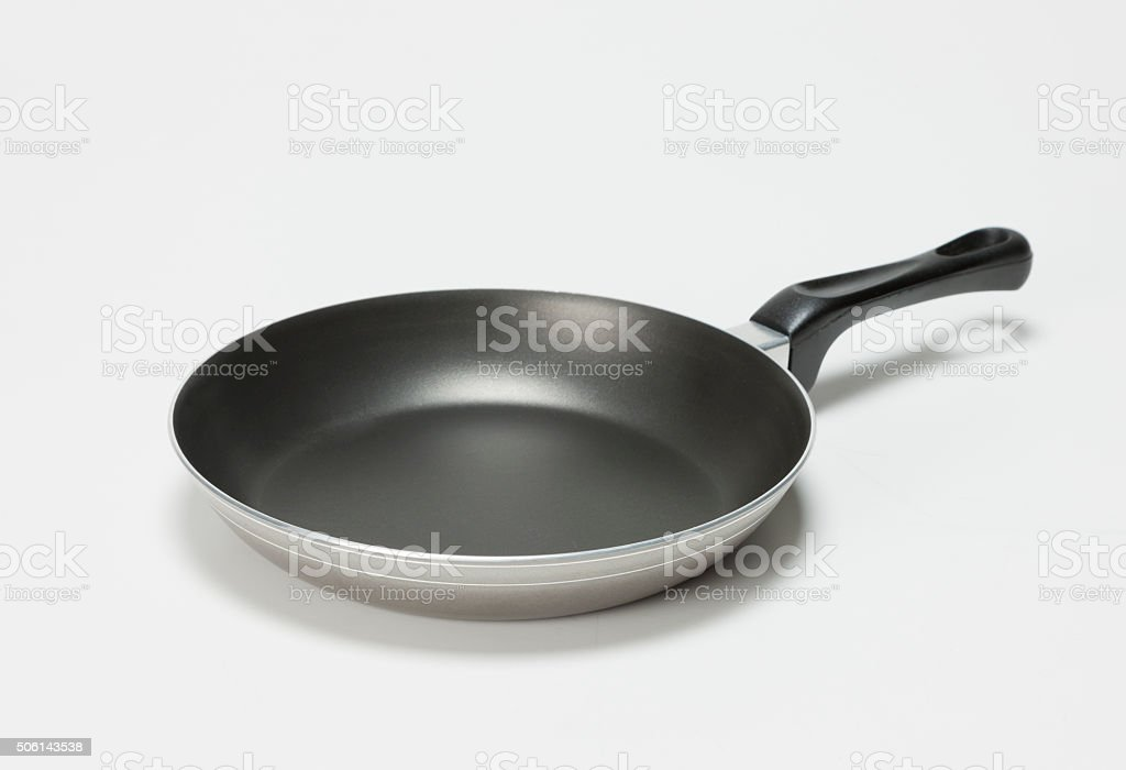 Nonstick frying pan stock photo