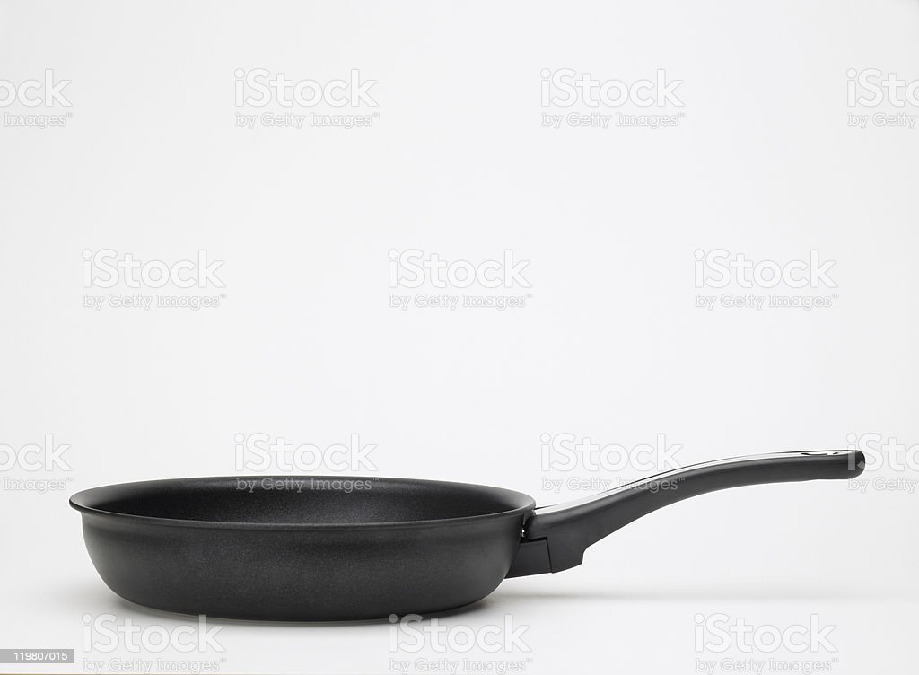 Non-stick skillet, side view stock photo
