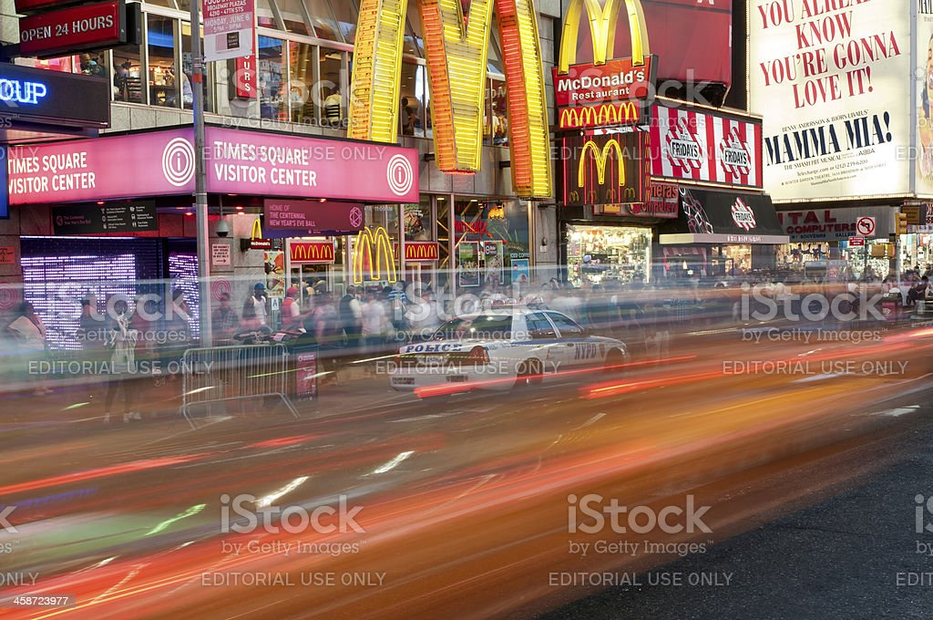 Non-stop motion at Times Square in New York City royalty-free stock photo