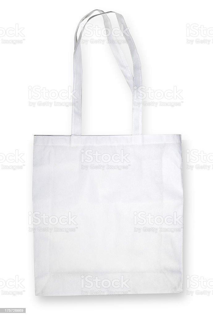 Nonwoven bag on white stock photo