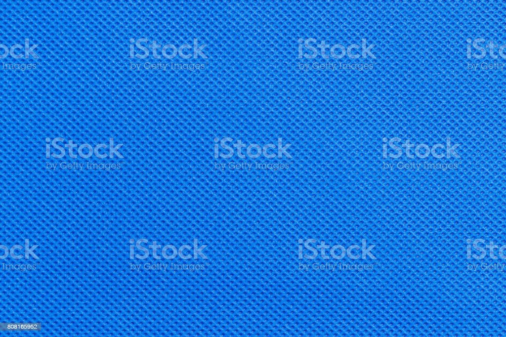 non-woven fabric blue color stock photo