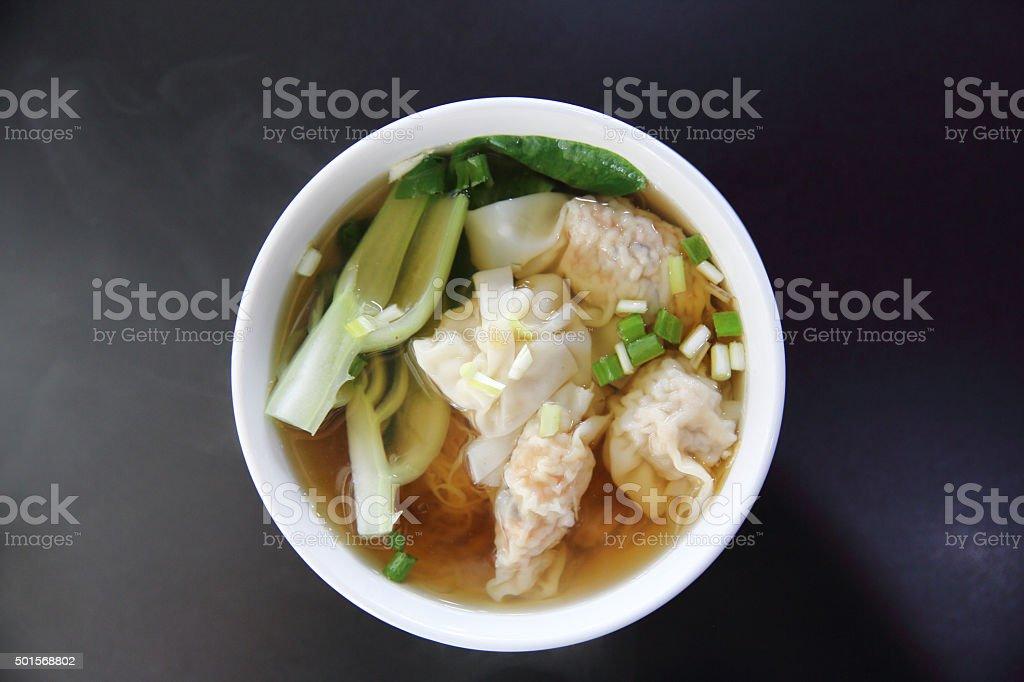 noodle and dumpling stock photo