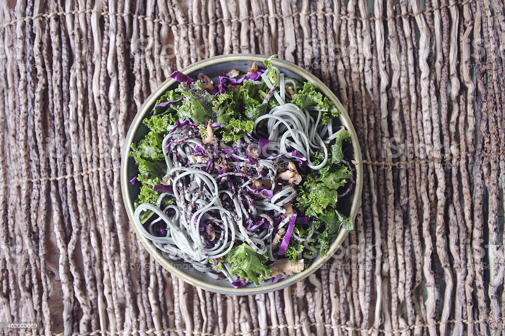 Noodle and Kale Salad royalty-free stock photo
