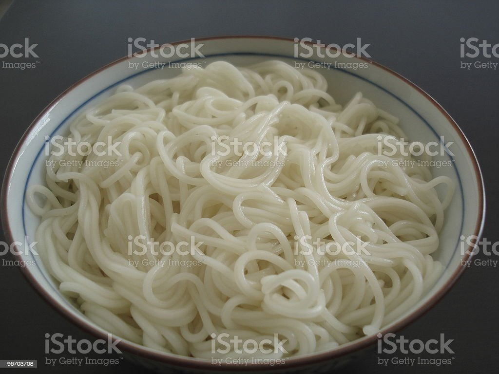 noodle in a bowl royalty-free stock photo