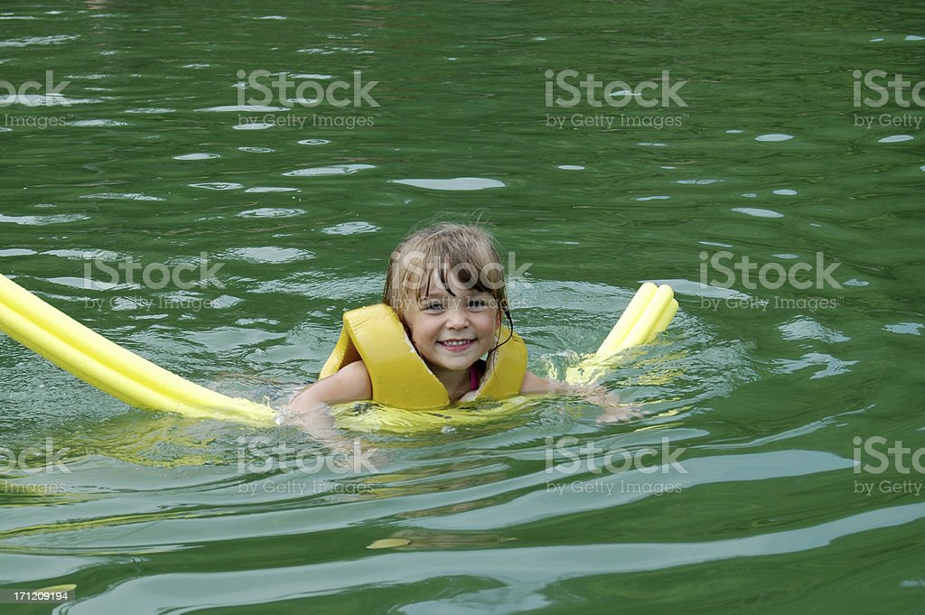 Noodle in a Lake stock photo