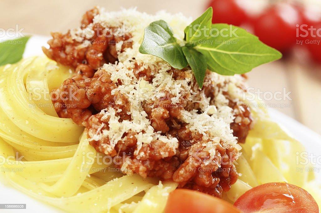 Pasta tagliatelle royalty-free stock photo