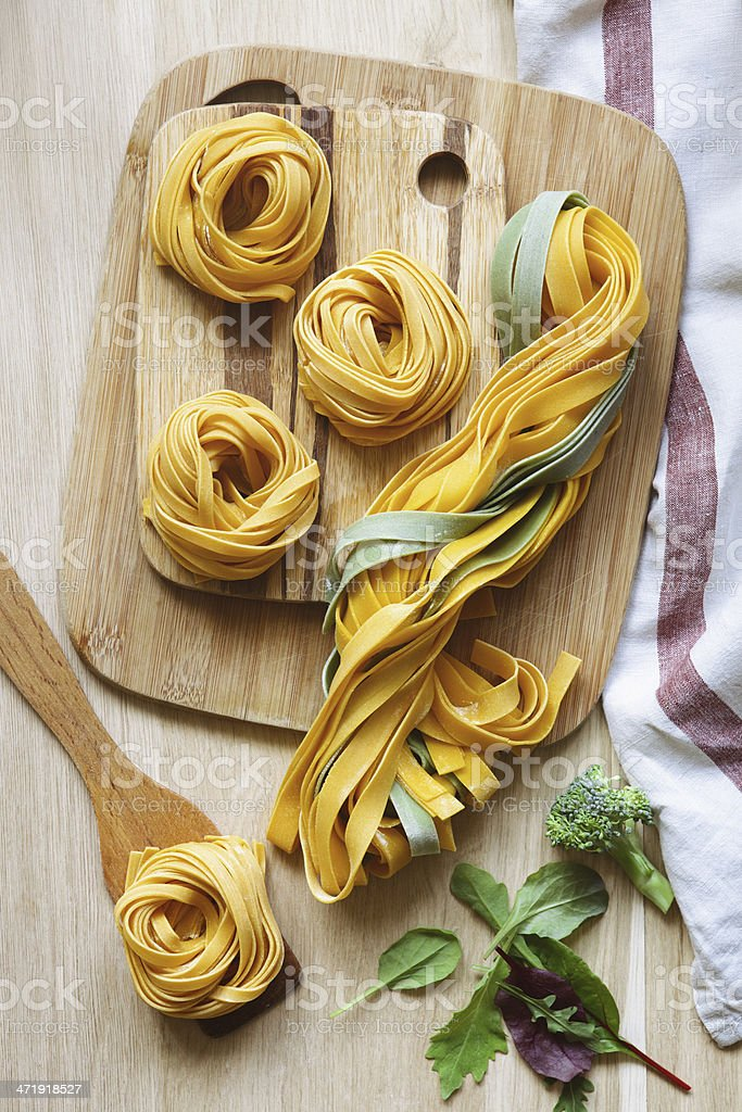 Pasta tagliatelle. stock photo