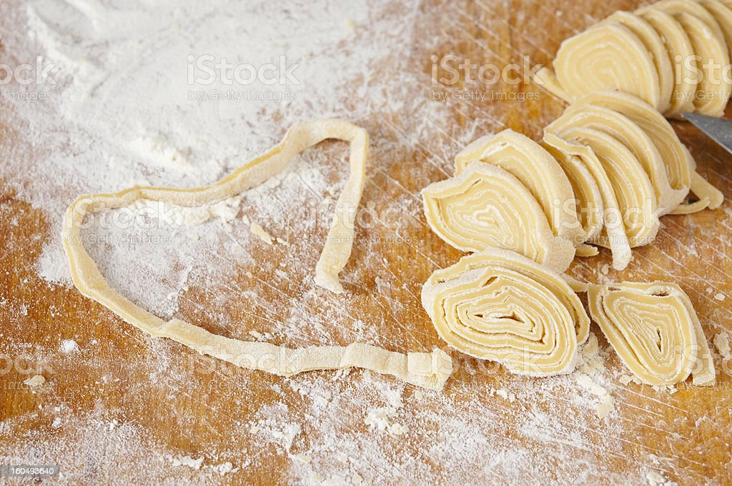 noodles and dough  -  home cooking royalty-free stock photo