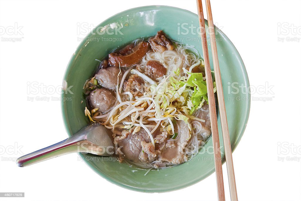 Noodles food in Thailand. royalty-free stock photo