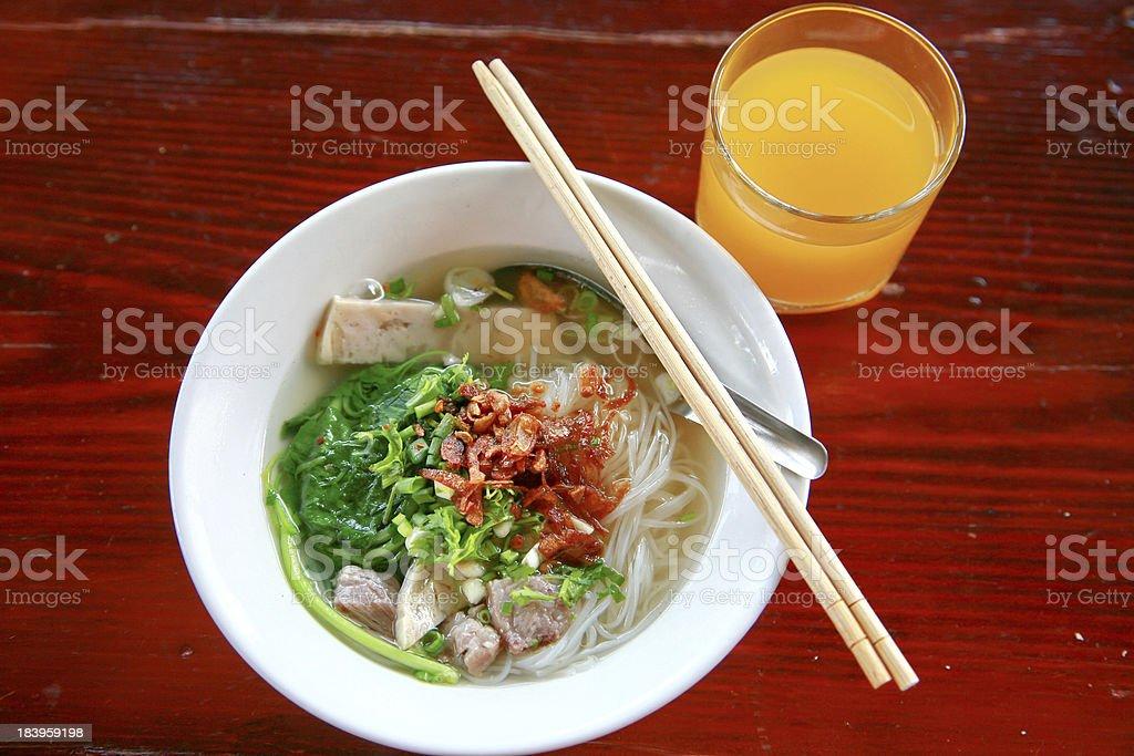 Noodles of Laos stock photo