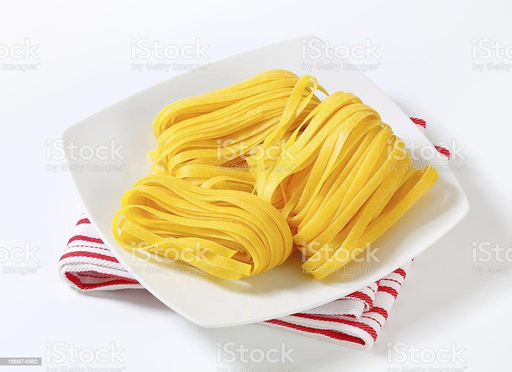 Tagliatelle pasta royalty-free stock photo
