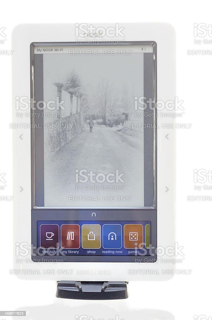 Nook e-book reader stock photo