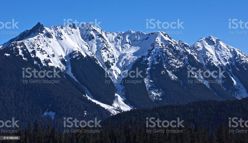Nooksack Ridge Ice stock photo