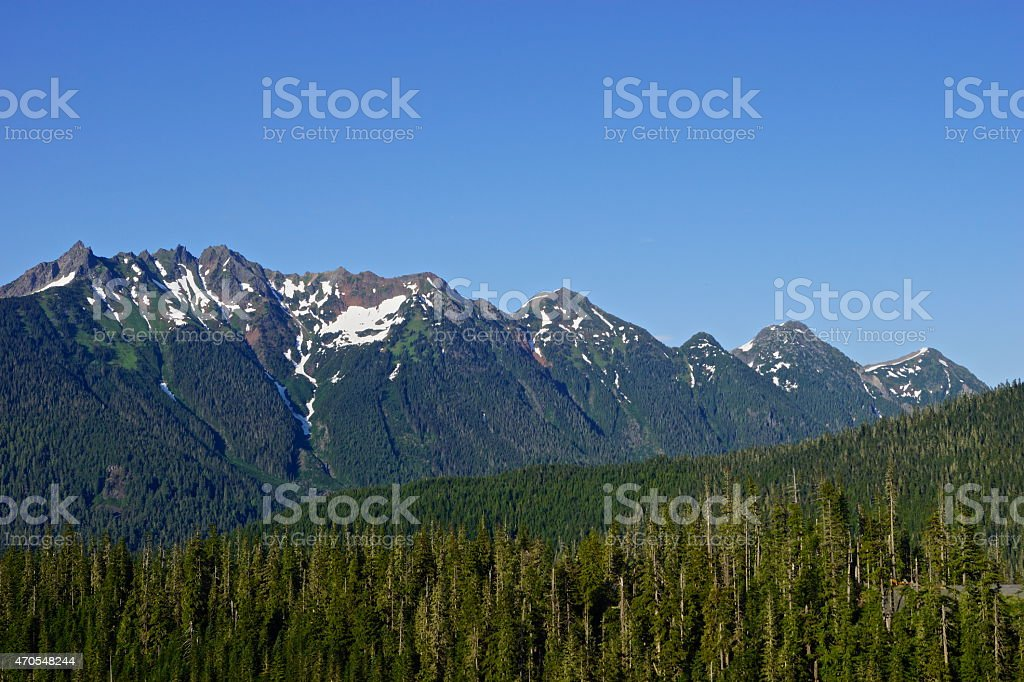 Nooksack Ridge Zone stock photo