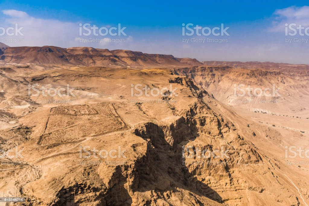 Noon in the Negev desert stock photo