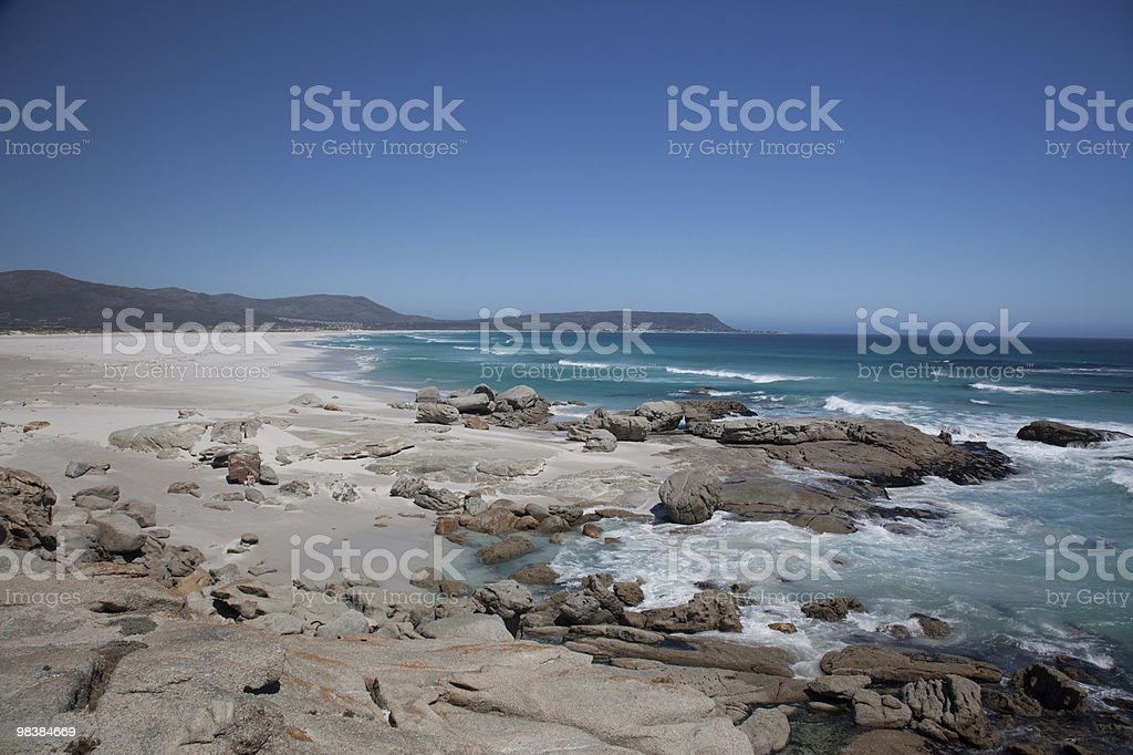 Noordhoek Beach in Chapmans Bay Cape Town stock photo