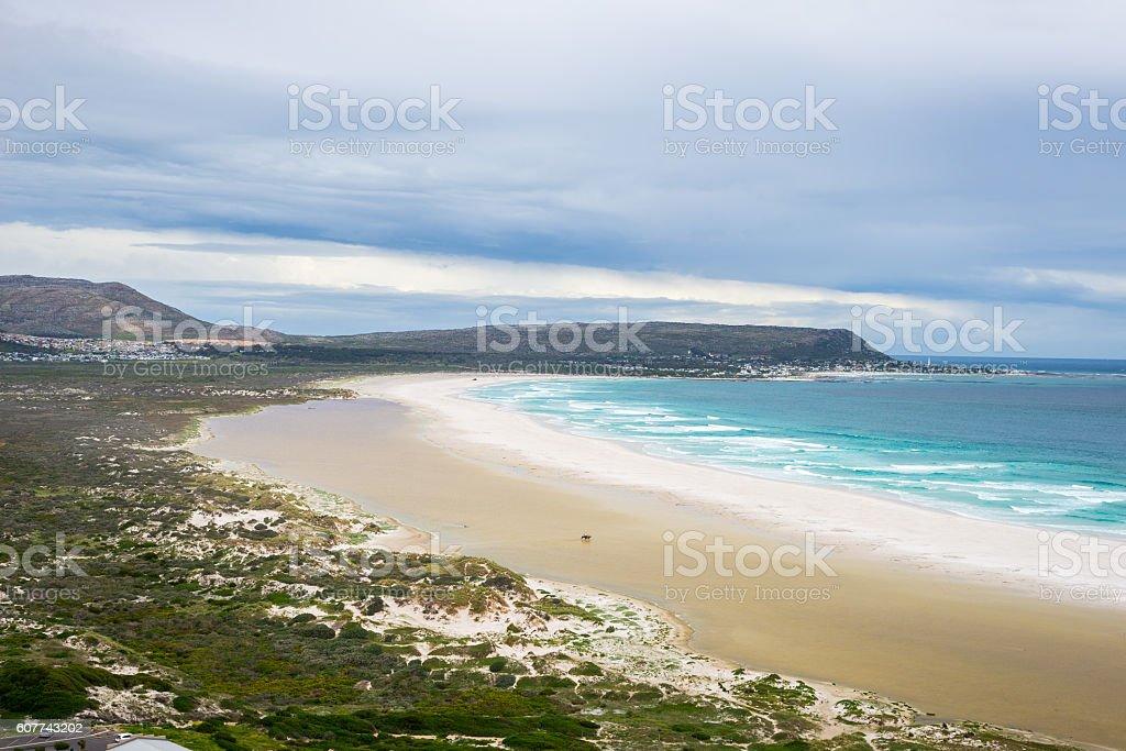Noordhoek beach on Cape Peninsula, Cape Town stock photo
